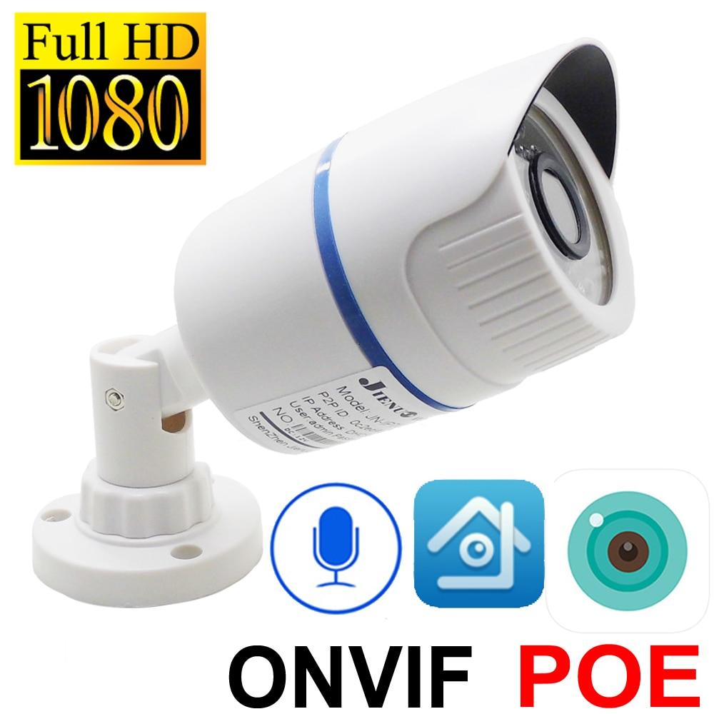 Câmera Ip 1080p POE HD Cctv Segurança Vídeo SurveillanceInfrared Casa Bala IPCam POE Ip Câmera Impermeável Ao Ar Livre Onvif Áudio