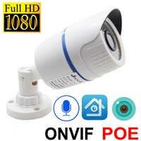 Ip Kamera 1080p POE HD Cctv Sicherheit Video SurveillanceInfrared Hause Kugel IPCam Im Freien Wasserdichte Onvif Audio POE Ip Kamera
