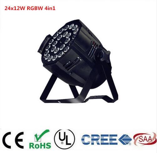 24x12w 4in1 rgbw led par light DJ Par Cans Aluminum alloy Shell stage light dmx light free shipping 16 lot dmx 18x10w rgbw led par can light for stage decoration