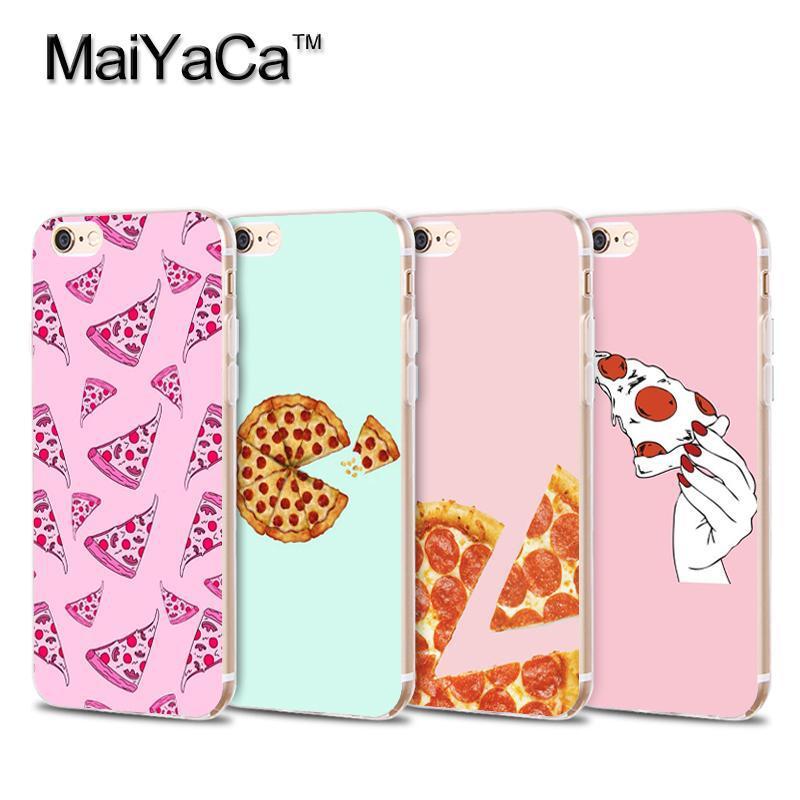 Maiyaca вкусный торт для пиццы суши прозрачный ТПУ мягкий сотовый телефон защитный чехол для iPhone 4S 5S 6 S 7 7 плюс Чехол