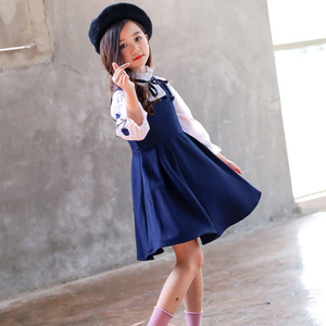 Image 2 - בנות בגדי סט רקמת חולצה + שמלת 2 Pcs חליפת סתיו עבור בנות מקרית ילדים של סט חורף Teen בנות בגדי 4 6 8 12