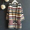 Новое прибытие детская одежда свитер для девочки с длинным рукавом осень детей свитер полосатый одежда для новорожденных милые девушки