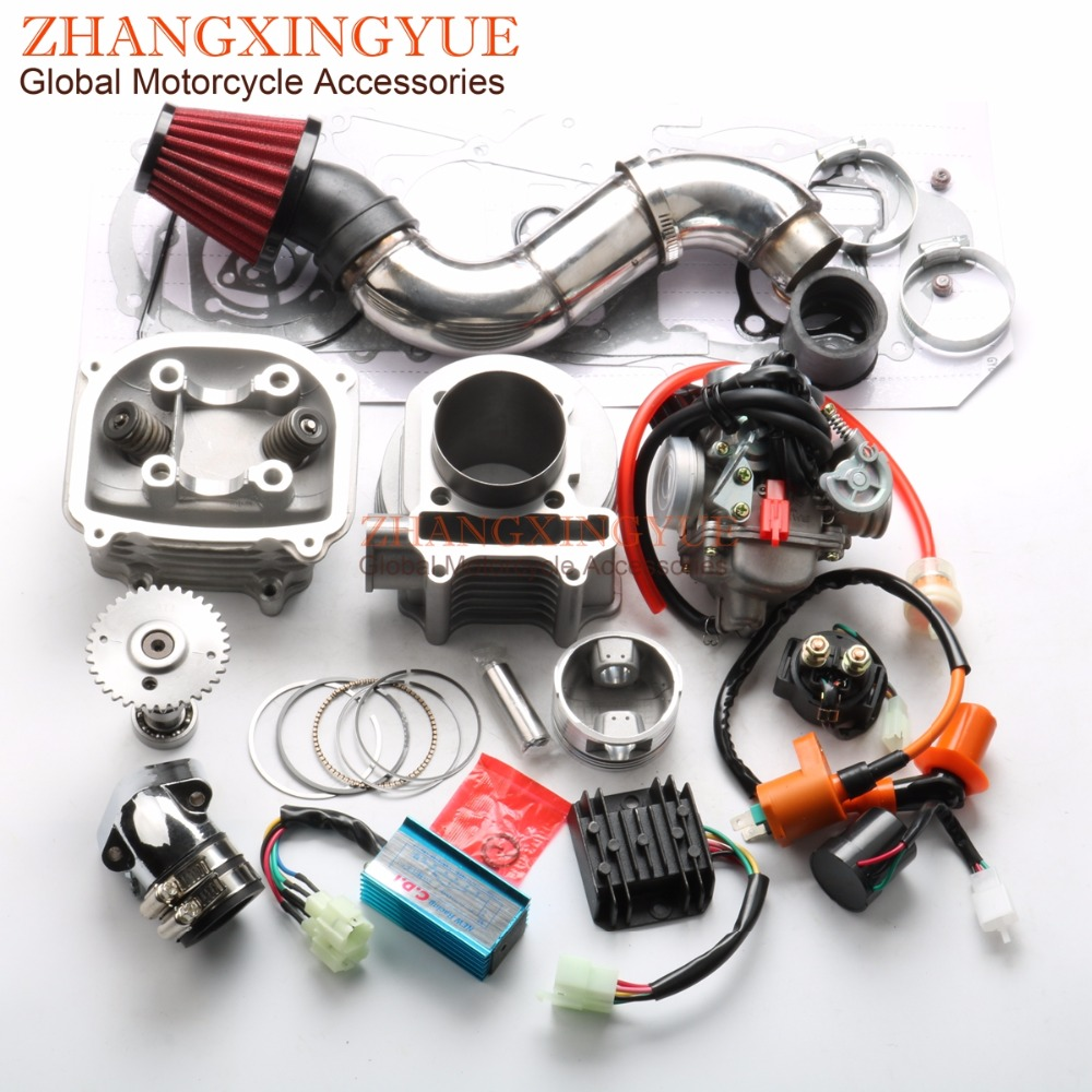 US $169 99 |180cc Non EGR Big Bore Kit Performance AC CDI PD24J Carburetor  A11 Cam for GY6 150cc 157QMJ 61mm Chinese Scooter 4T-in Engine Cooling &