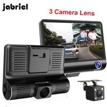 Jabriel Автомобильный видеорегистратор 3 камеры s объектив 4,0 дюймов Даш камера двойной объектив с камерой заднего вида видеорегистратор авто регистратор цифровые видеорегистраторы