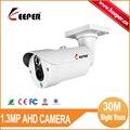 2016 GOLEIRO MIni Projeto Matriz de LED CCTV Lente Fixa Câmera 1.3MP 960 P AHD Bala Câmera de Segurança com IR Cut Night Vision 30 M