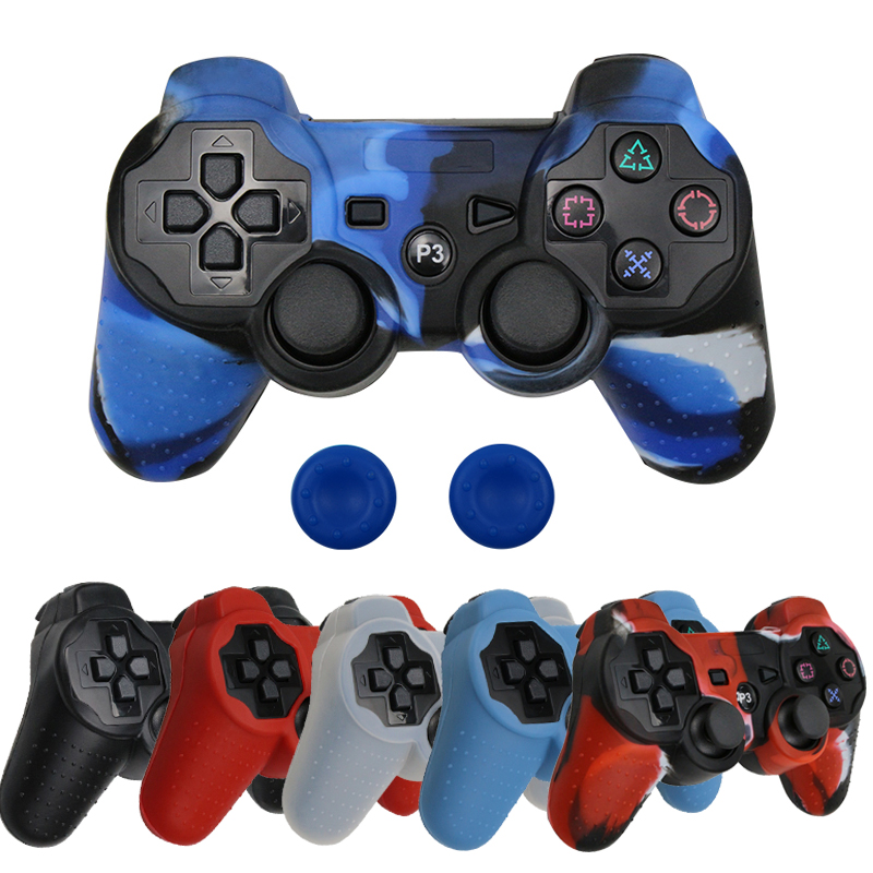 Silicone Protective Skin Cover For Sony PS3/PS2 Gamepad Rubber Protective Case For Playstation 3 Controller