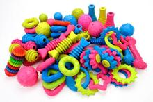 TPR Pet Toys Chew Dog Toys Teddy Puppy No Poison Health Chew Interactive Rubber Pacifier Bones Molar Clean The Teeth Funny Games