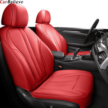 цена на Car Believe Genuine leather car seat cover For honda civic 2006-2011 cr-v accord 7 city FIT car accessories covers for car seats