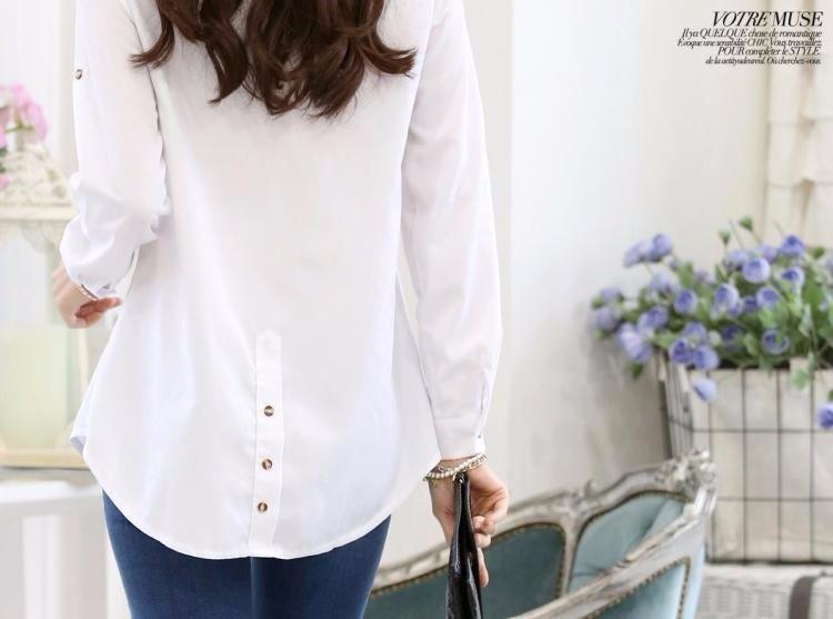 HTB1KxMNLXXXXXa XXXXq6xXFXXXu - Casual Blouse Long Sleeve Femininas Ladies Work Wear Tops Shirt