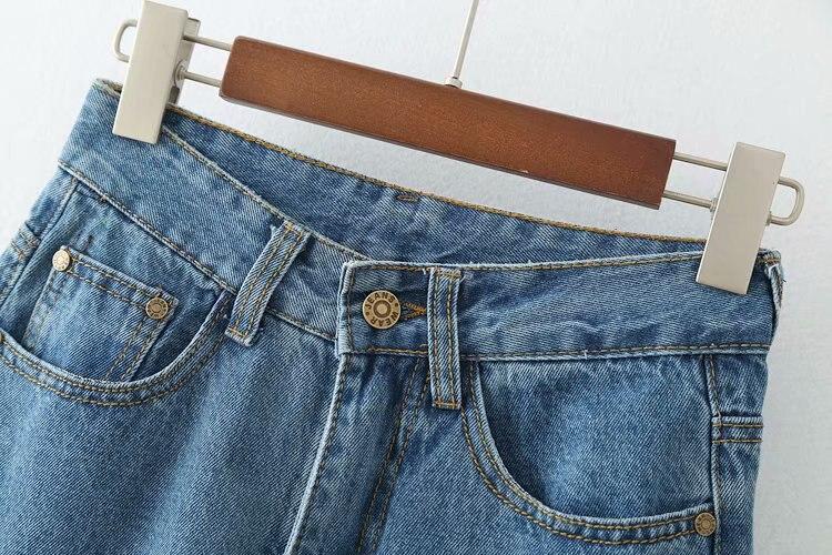 De Flare Casual Cintura Pantalones Mujeres Fit Alta Jeans Moda Denim Afloje Mediados Azul Lavado zxHww4dqYE