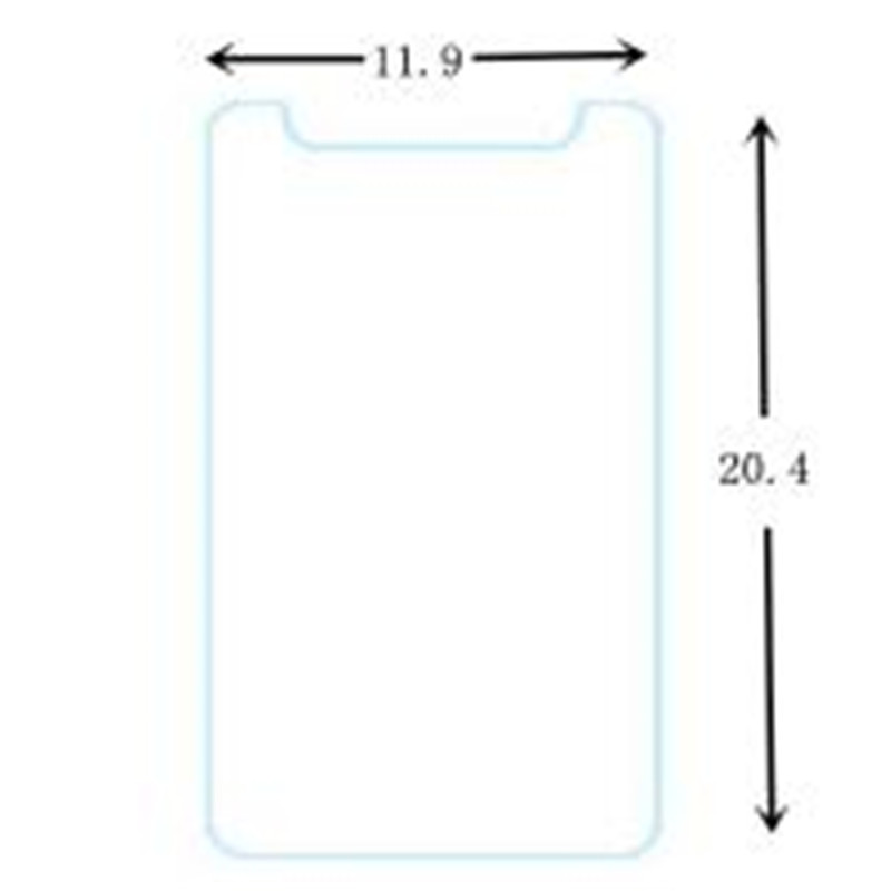 50PcsLot 9H Tempered Glass Screen Protector Universal for 7.9 8 8.0 8.1 inch Tablet, Size of Glass: 20.4 * 11.9cm + Cloth