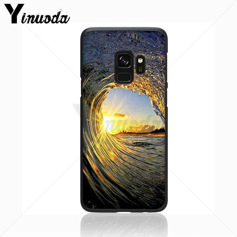 Yinuoda As Ondas Do Mar spray de Praia ilha do oceano caixa Do Telefone de silicone Macio Para Samsung Galaxy s9 s8plus nota 8 note9 s7 note5 casos