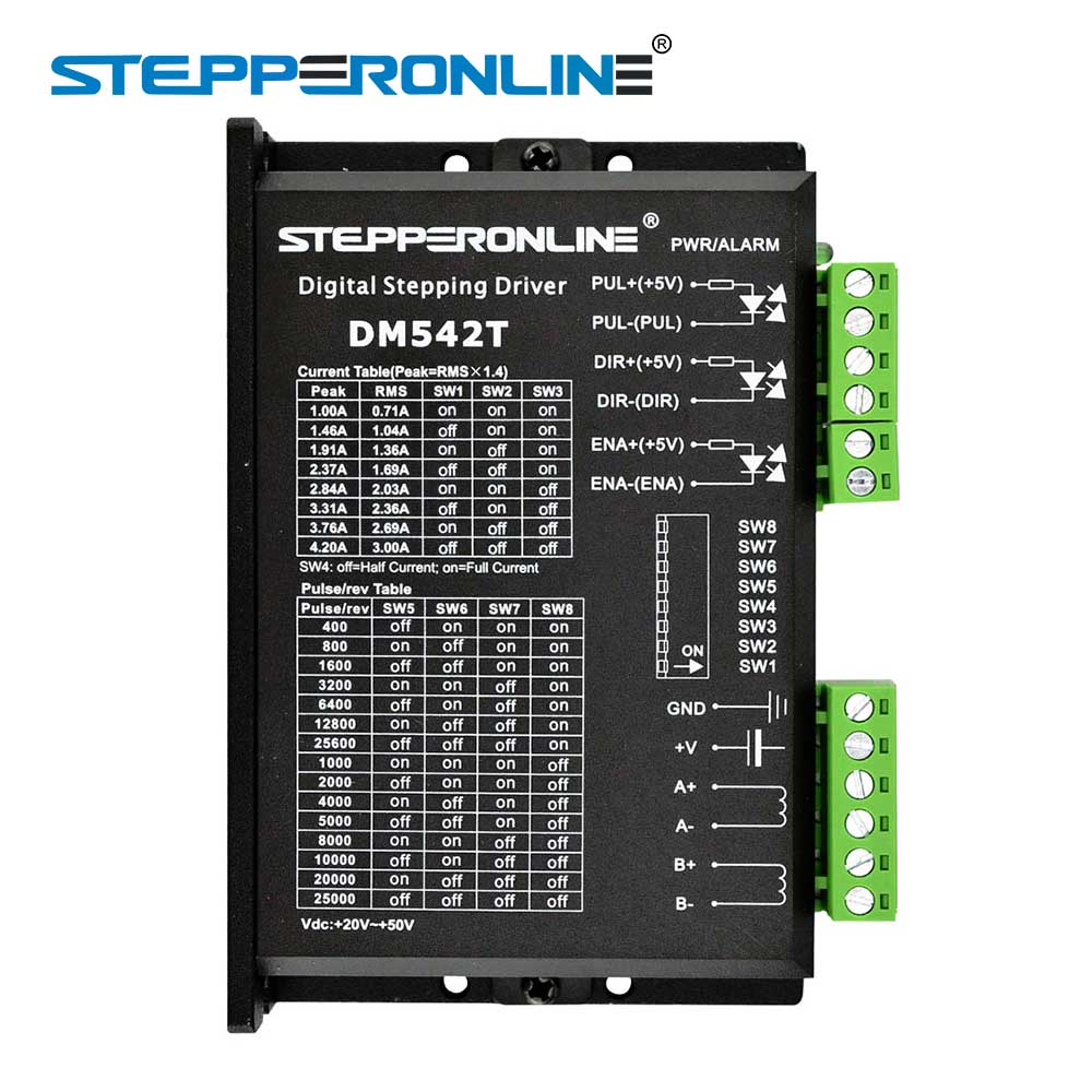 Stepper Motor Controller Digital Stepper Motor Driver 1.0-4.2A 20-50VDC for Nema 17, 23, 24 Stepper Motor digital stepper driver 1 8 5 6a 20 50vdc for nema 23 24 34 stepper motor