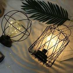 AKDSteel Edison Стиль Металл Home настольная лампа теплый белый светодиодный s провода огни 3xAA от батареек ночника Ретро Железа светодиодный