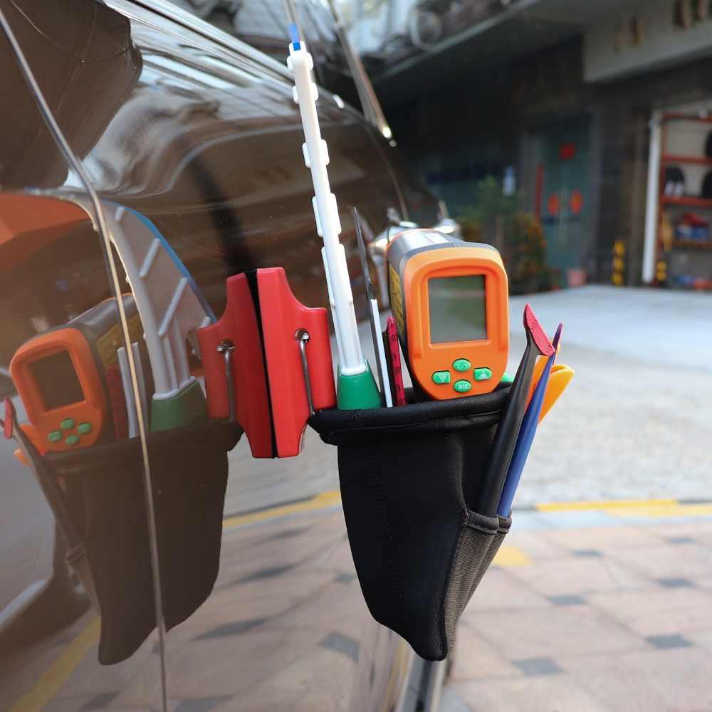 FOSHIO Güçlü Mıknatıs alet çantası Için vinil araç örtüsü Araçları Pencere Tonu Silecek Bıçak Tutucu Taşınabilir kılıf çanta Araba Aksesuarları