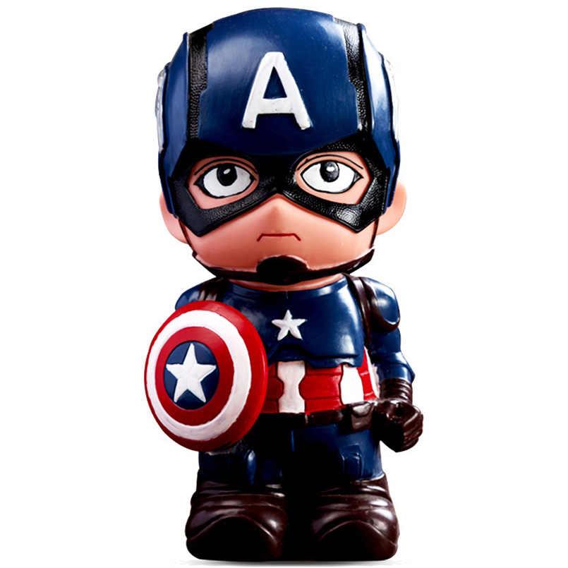 Мстители Капитан Америка Железный человек Бэтмен человек паук Копилка ПВХ фигурка Железного человека Коллекционная модель игрушки для детей