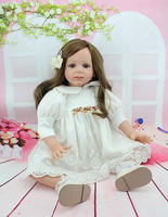 New silicone reborn baby dolls educational play house handmade lifelike princess doll kid christmas new year gifts collection