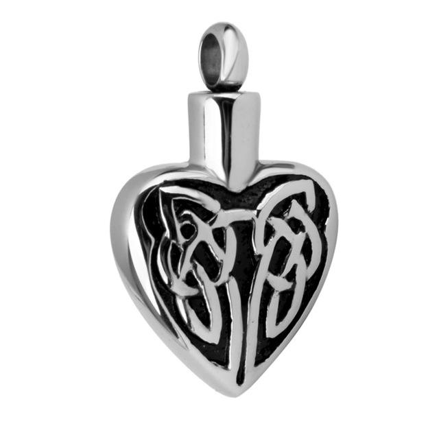 Celtic Heart Urn Pendant