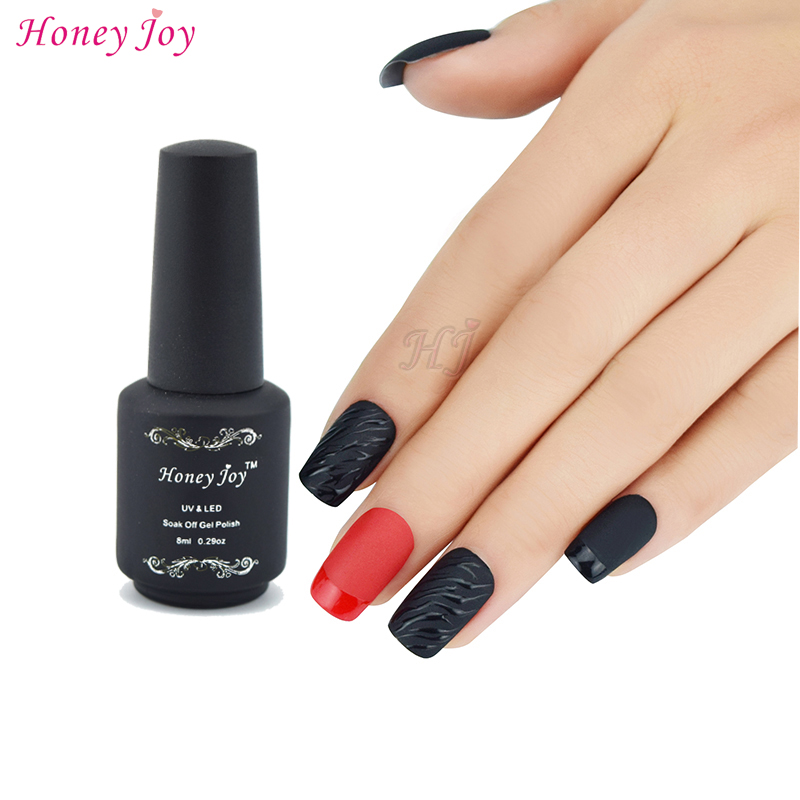 Honey Joy Opaco Top Coat Nail art Gel UV Polish Matte Top coat LED UV Soak Off Nails Tools Gel UV Polish