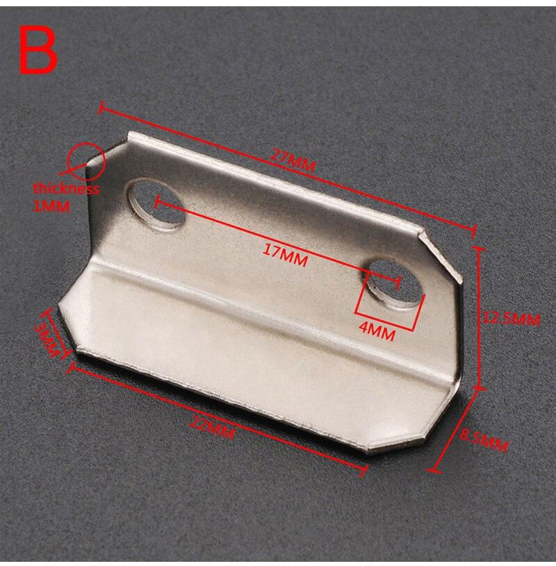 Myhomera 10 шт. дверной болт пластина для замка ящика Защитная защелка бочка болт железная крышка с винтами 30*16 мм большой маленький