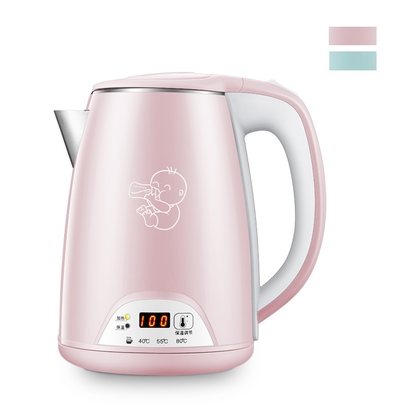 DMWD 1.2L 3 Gear Constant Temperature Electric Kettle 220V Stainless Steel Milk Water Heater Thermometer Water Boiler 1500W haier brillante electric kettle baby smart milk thermostatic constant temperature water heater glass electric kettle tea maker