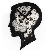 Brain Design Gear Clock ABS + Metal Wall Clock Quartz Movement Gear Clock Individuality