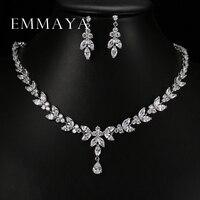 Emmaya de lujo de cristal de circón joyería de la boda joyería africana fija fija choker collar para las mujeres shipping