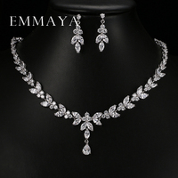 Luxury Crystal Zircon Wedding Jewelry Sets African Jewelry Sets Choker Necklace Earrings For Women Free Shipping