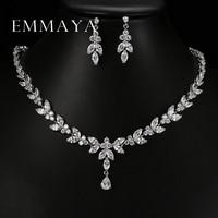 Luxury Crystal Zircon Wedding Jewelry Sets African Jewelry Sets Choker Necklace Earrings For Women Free Shipping