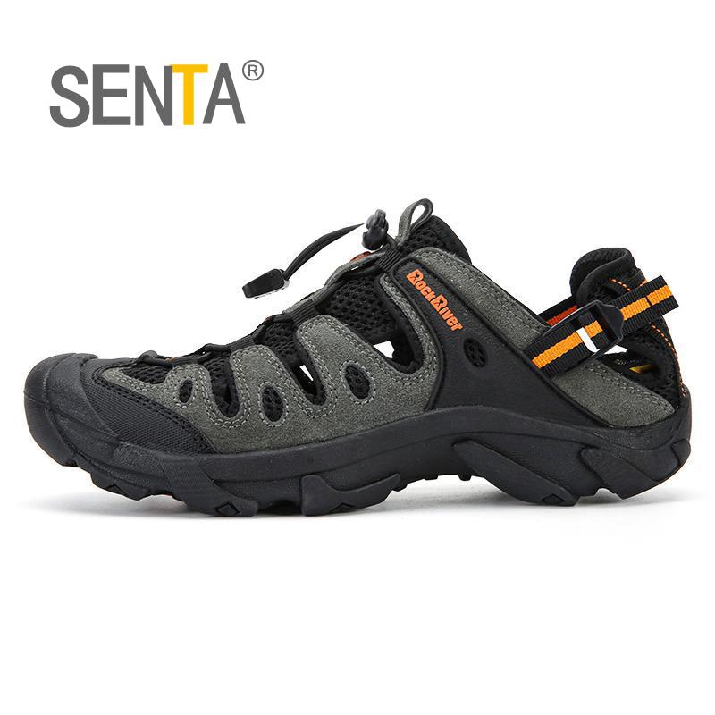 Summer Men Outdoor Sneakers Breathable Hiking Shoes Men Women Outdoor Hiking Sandals Men Trekking Trail Water Sandals Big Size(China)