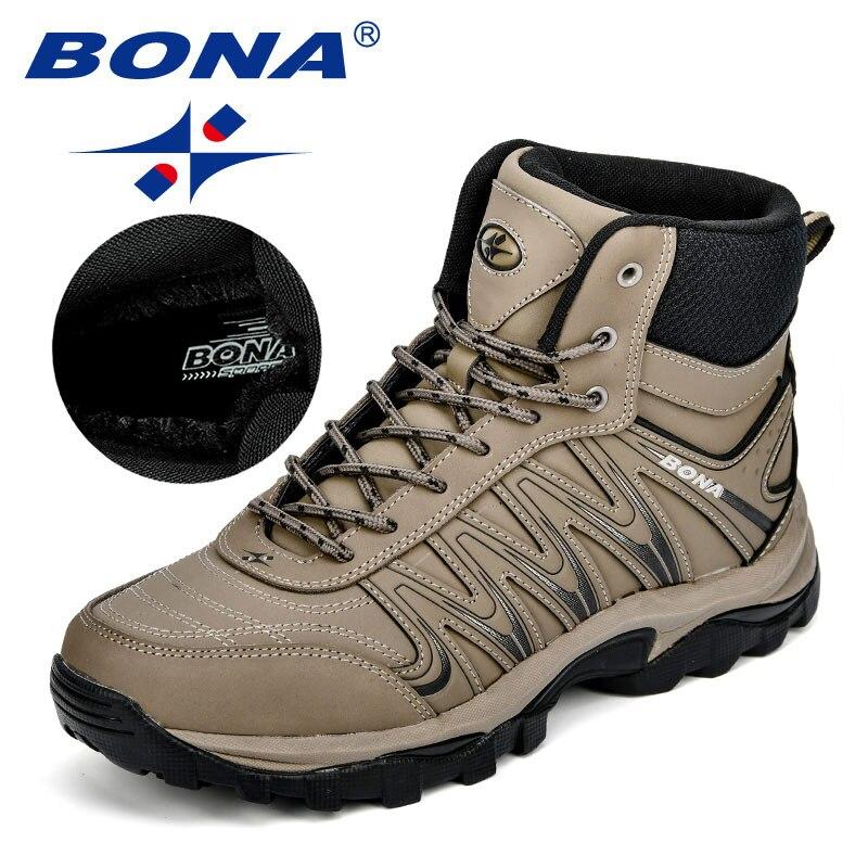 BONA nouveauté grande taille hommes chaussures de randonnée mâle extérieur antidérapant respirant Trekking chasse tourisme chaussures de montagne Durable