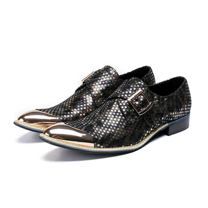 sapato social masculino steel gold toe dress wedding formal shoes men glitter loafers oxford leather italian shoe lasts 2019sapato social masculino steel gold toe dress wedding formal shoes men glitter loafers oxford leather italian shoe lasts 2019