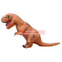 T REX Inflatable Dinosaur Costume For Adults Halloween Costume Fan Operated Disfraces Adultos Jumpsuit Fancy Dress