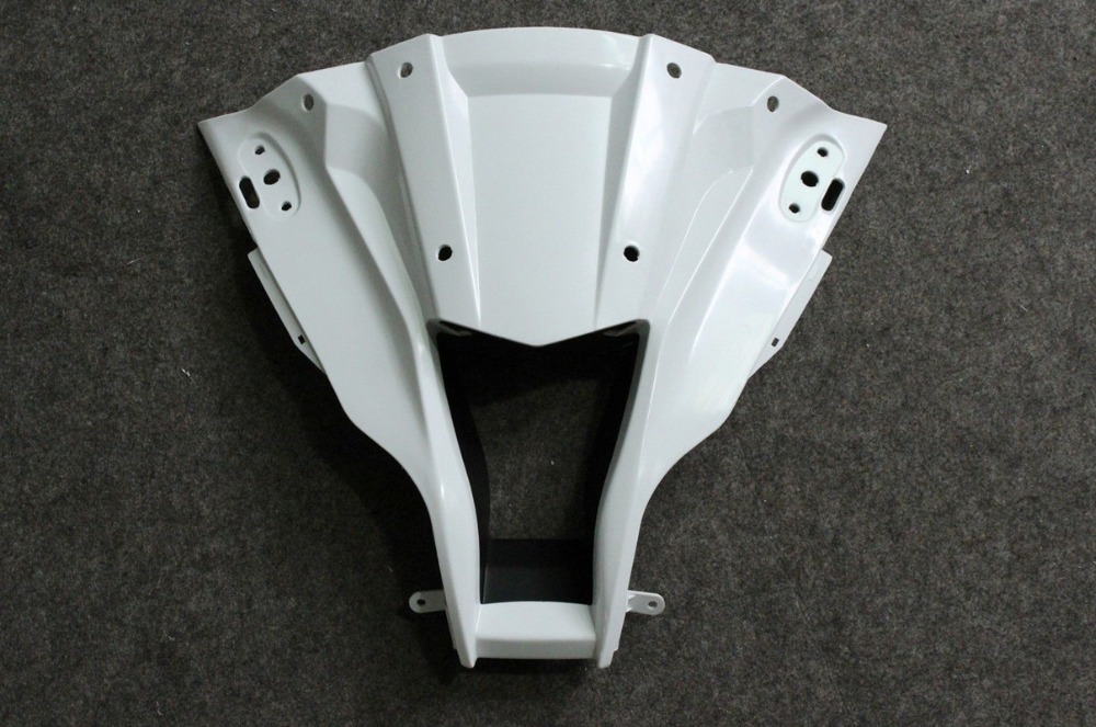ZXMT Motorcycle ABS Injection Unpainted Main Section of Front Upper Fairing for KAWASAKI ZX-10R 2011 2012 2013 1000ZXMT Motorcycle ABS Injection Unpainted Main Section of Front Upper Fairing for KAWASAKI ZX-10R 2011 2012 2013 1000
