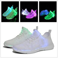 KRIATIV Luminous Sneakers Glowing Light Up Shoes for Kids White LED Sneakers Children Flashing Shoes with Light for Adult&Kid 3