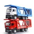 Моделирование 1:50 Бортовой прицеп контейнер грузовик diecast автомобилей сплава вытяните назад toys с музыкальным и свет для детей подарки