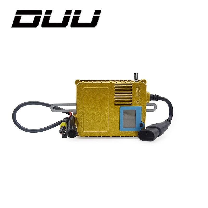 DUU 2pcs HID Bi Xenon Slim Replacement Ballast Reactor Light For H1 H3 H7 9006 Adjustable 35 W-200 W Digital Display