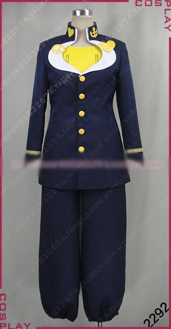 JoJo/'s Bizarre Adventure Josuke Higashikata Cosplay Costume Outfit Suit