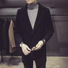 2018 New Arrival Plus Size XXXL Men Fashion Long Sleeve Solid Mid Long Overcoat Casual Streetwear