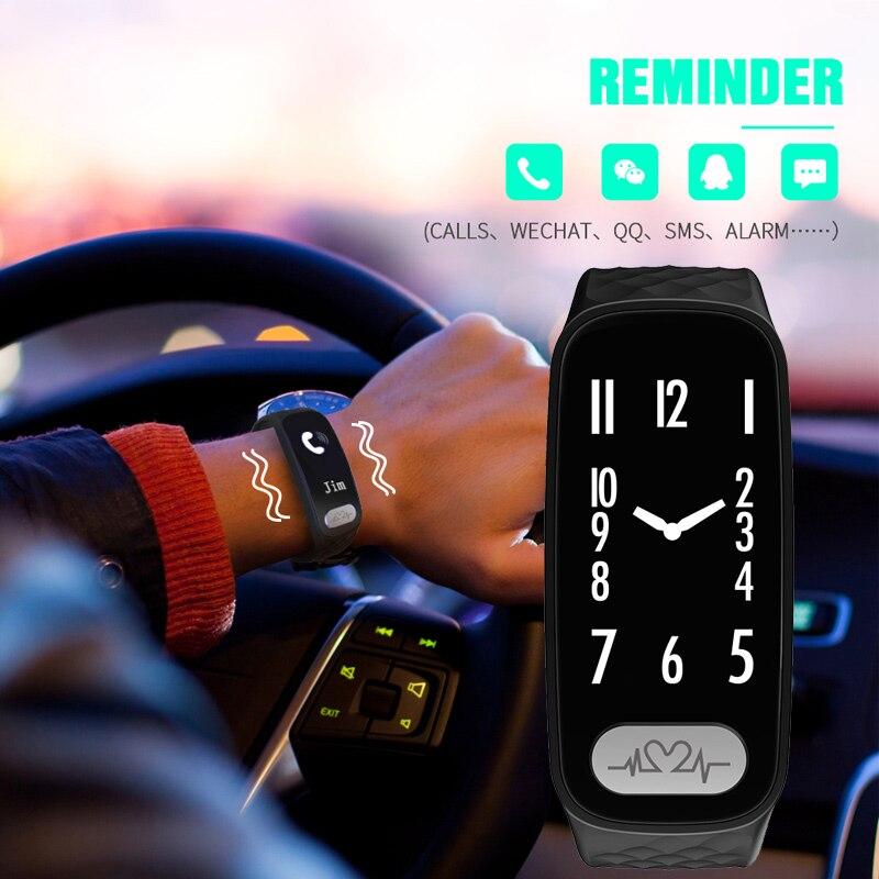Bozlun ECG Heart Rate Men Smart Watches Wrist-up Light Blood Pressure App Message Reminder Pedmeter Sport Wristwatches B20 ecg dongle