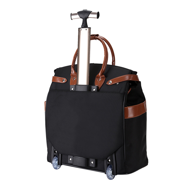 Letrend Korean Oxford Women Travel Bag Rolling Luggage Spinner Wheel Suitcases Women Red vintage Cabin Trolley Women's Handbag