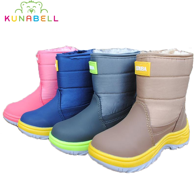 2017 Children Winter Snow Boots Girls Waterproof Warm Boots Shoes Boys Fashion Hooks Anti slippery Thickening