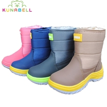 2017 Children Winter Snow Boots Girls Waterproof Warm Boots Shoes Boys Fashion Hooks Anti-slippery Thickening Snowboots C511
