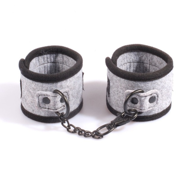 Adult restraint handcuffs for beginners, Teflon fabric restrain hand cuffs sex toys adult product for couples