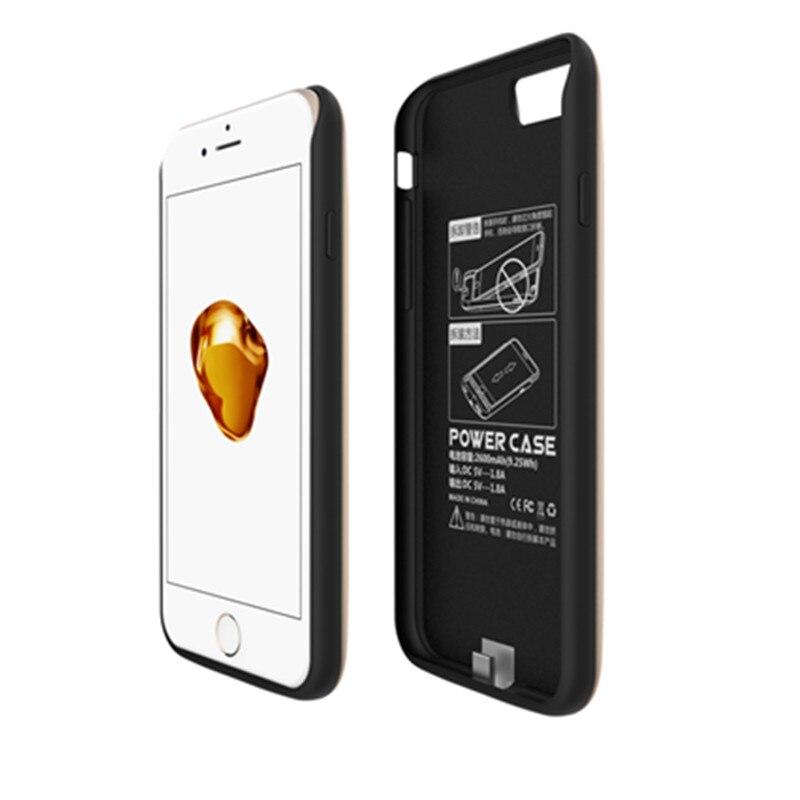 imágenes para Banco de la energía externa de copia de seguridad caja de batería para iphone 7 gagaking caja del teléfono protector caso para iphone 7 4 color 2600-5200 mAh