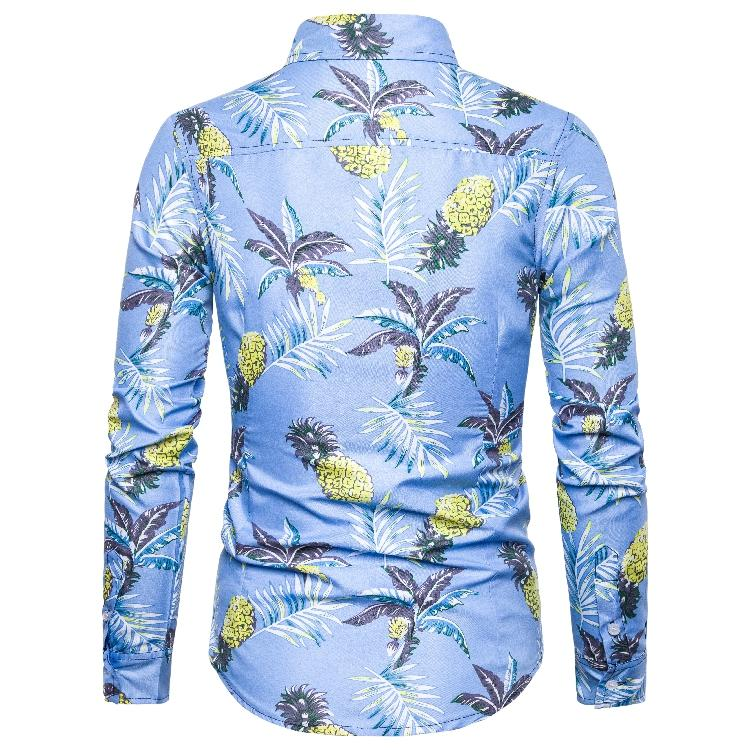 Floral Social Men Shirts Hawaiian Style Fashion New model Shirts Long sleeve Casual Blouse Men Slim fit Summer New in Casual Shirts from Men 39 s Clothing