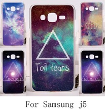 Anti-scratch Plastic and Silicon Phone Protective For Samsung Galaxy J5 2015 SM-J500 Cases Abstract Painted Pattern Phone Shell