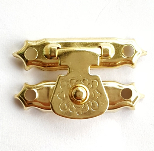 50pcs 16 * 27mm Golden or Bronze Lock Hasps Agraffe Buckle Dark Wooden Packing Box Parts Clasp Latch Hook Furniture Cabinet Diy 1 2 inch gold bronze balck silver g parts accessories luggage bag buckle snap hook dog pets bag hange lobster clasp 50pcs lot
