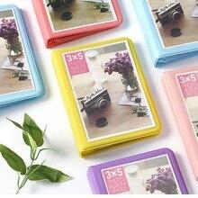32 bolsos coloridos 3x5 mini álbum de fotos única, caixa de armazenamento para 5 Polegada foto/instax filme largo
