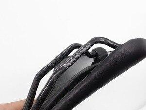 Image 5 - 2021 NEUE Pu + carbon fiber saddle road mtb mountainbike fahrrad sattel für mann radfahren sattel trail komfort rennen sitz rot weiß